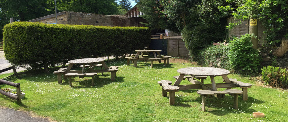 pub garden at Royal Oak pub Dolton