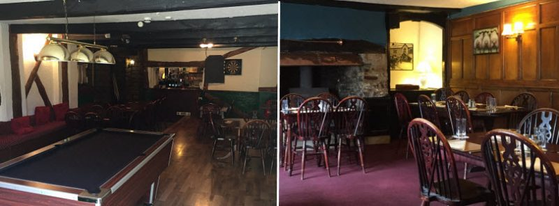 Function rooms at The Royal Oak in North Devon