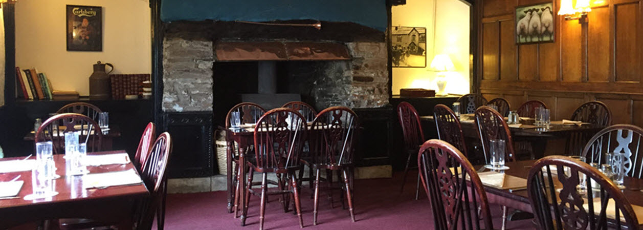Function room Devon and restaurant at The Royal Oak in Dolton, Winkleigh